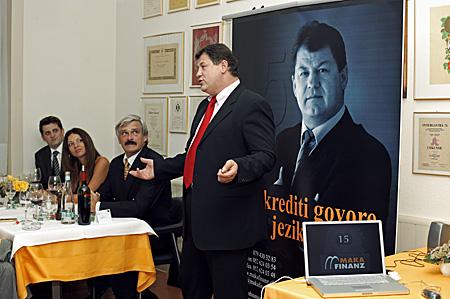 Branimir Petranović u kratkom izlaganju nakon prezentacije.