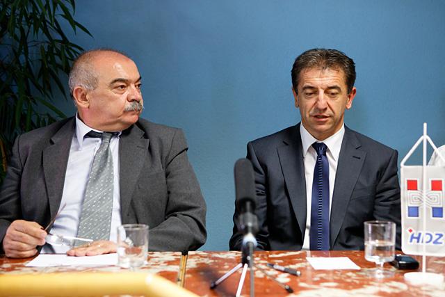 Ivan Roščić (HDZ CH FL) i dr. Darko Milinović.