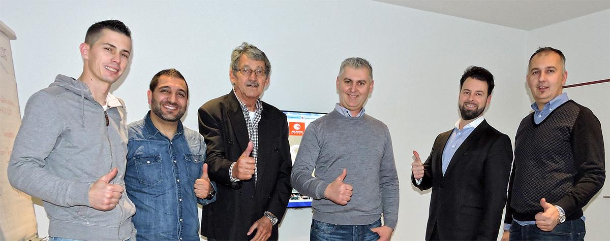Djelatnici firme Maestral AG na radnom susretu s predstavnikom Atlantic Grupe.
