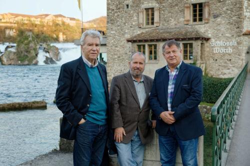 Dr. Ivica Tomić, Franko Cetinich i Branimir Petranović, Rheinfall, Schaffhausen.