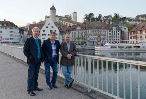 Dr. Ivica Tomić, Branimir Petranović i Franko Cetinich, Schaffhausen.
